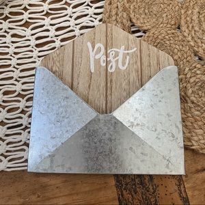 "Target | ""Post"" Metal Envelope Wall Hanging"